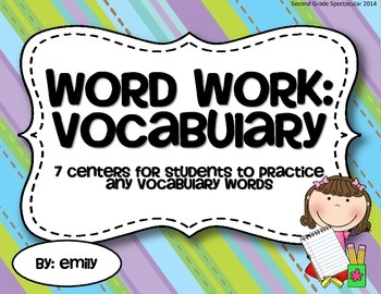 Word Work: Vocabulary