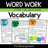 Word Work - Vocabulary