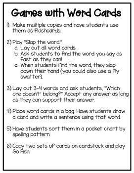 Word Work: Vowel Digraphs oo, ue, ew, and ui