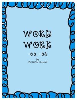 Word Work: Vowel Pairs -ea & -ee
