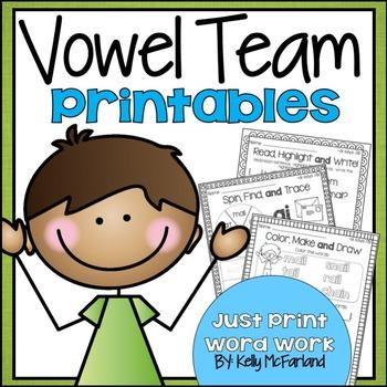 Word Work {Vowel Team Printables}