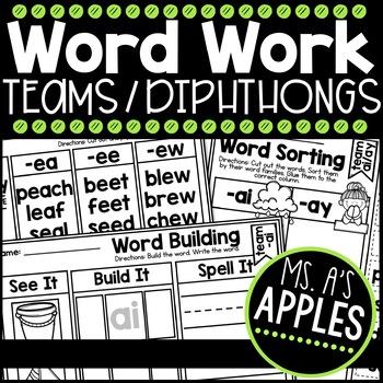 Word Work Vowel Teams