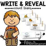 Word Work Vowel Teams Write and Reveal