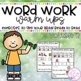 Word Work Warm Ups Volume 2