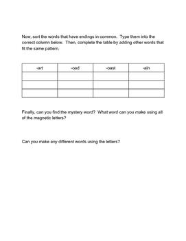 Word Work Week 5