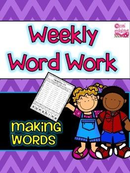 MakingWords Word Work Center