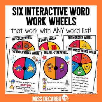 Word Work Wheels