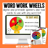 Word Work Wheels
