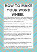 Word Work Wheels - Wheely Good! Literacy Centers 10 wheels PLUS worksheets!