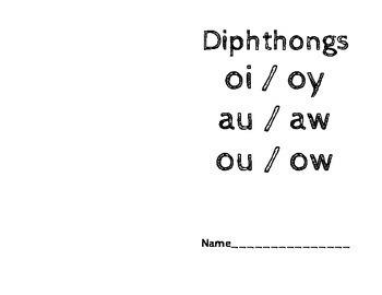Vowel Diphthong Word Work Book