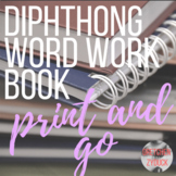 Vowel Diphthong Word Work Book