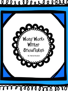 Word Work - Winter Snowflakes