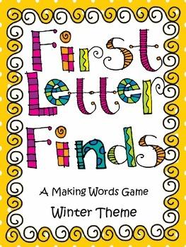 Word Work Winter Theme