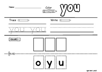 Word Work With Our School Tools-FREEBIE