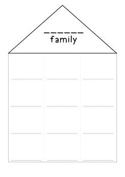 Word Work - Word Family House Printable