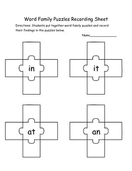 Word Work (Word Family Puzzles)