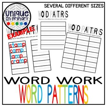 Word Work: Word Patterns