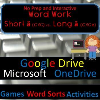 Word Work-Word Sorts Games & Activities—Short ă vs. Long ā