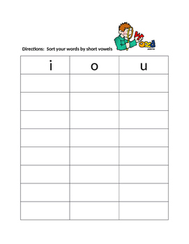 Word Work Word Sorts for building phonics skills