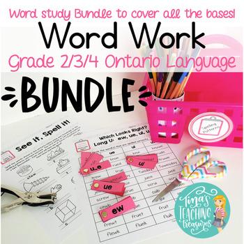 Word Work/ Word Study Centers BUNDLE packs 1-5