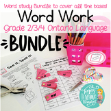 Word Work/ Word Study Centers BUNDLE packs 1-5