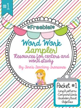 Word Work/ Word Study Centers FREEBIE sampler!