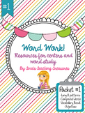 Word Work/ Word Study Centers Packet 1