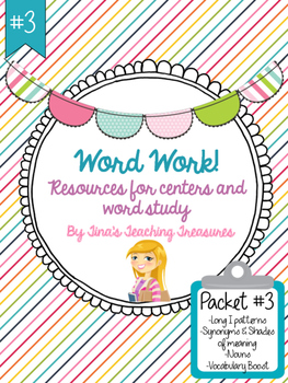 Word Work/ Word Study Centers Packet 3