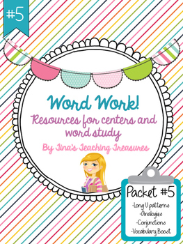 Word Work/ Word Study Centers Packet 5
