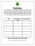 Word Work: Word Value