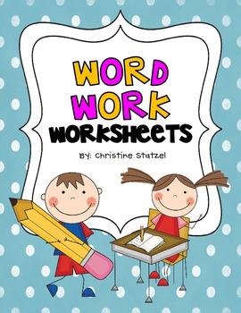 Word Work Worksheets by Christine Statzel | Teachers Pay Teachers