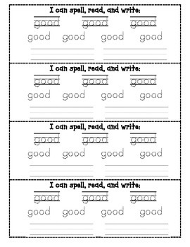 Word Work Wristbands: Complete Dolch Primer List