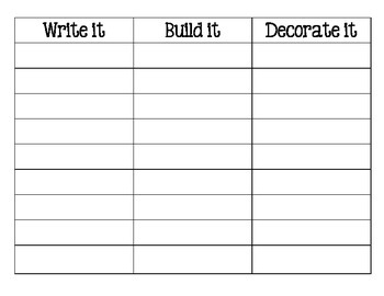 Word Work: Write It-Build It-Decorate It