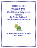 Word Work Write It Stamp It Daily 5