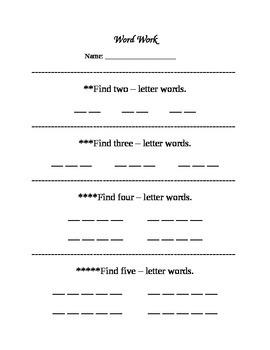 Word Work - Write the Room!