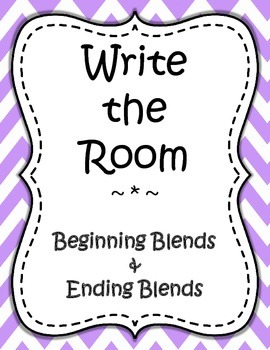 Word Work - Write the Room - Blends