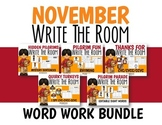 Word Work Write the Room Bundle-November-Differentiated