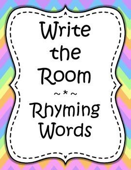 Word Work - Write the Room - Rhyming Words