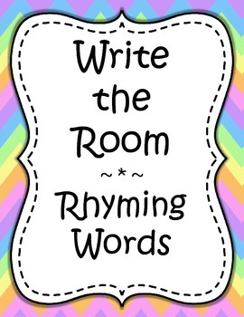Word Work - Write the Room - Rhyming Words