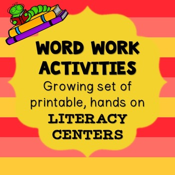 Word Work & Writing Activity Samples