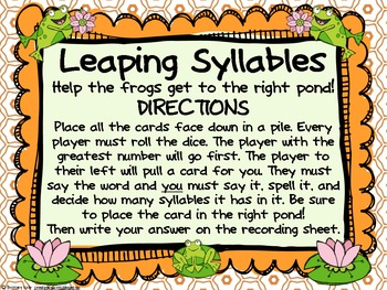 Word Work - Zaner Bloser - Leaping Syllables