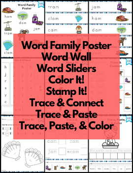 am Word Family Word Work and Activities - Short A