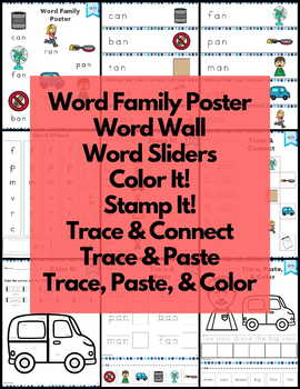 an Word Family Word Work and Activities - Short A