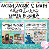 Word Work and Math Adventures MEGA BUNDLE for Small Group Instruction
