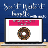 Interactive PowerPoints with Audio for Math and Word Work Bundle