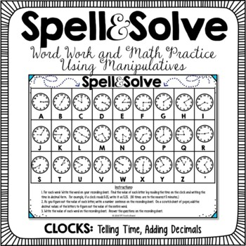 Word Work and Math Clocks Activity