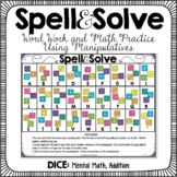 Word Work and Math Dice Activity