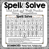 Word Work and Math Dominoes Activity
