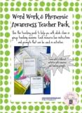 Word Work and Phonemic Awareness Teaching Pack