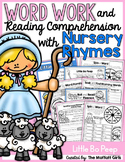 Word Work and Reading Comprehension with Nursery Rhymes: Little Bo Peep
